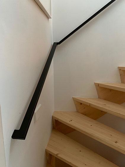doorlopende trapleuning staal