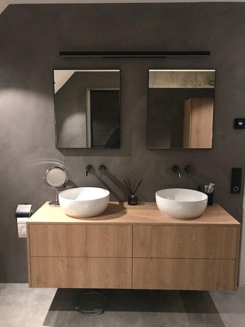 Losse spiegels op maat boven wastafel